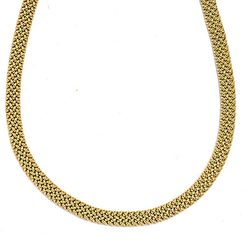 18K Flat Mesh Necklace