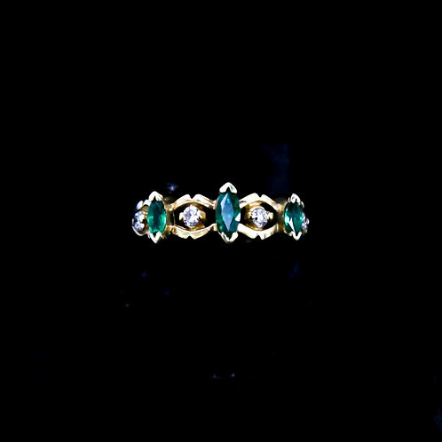 Marquis Emerald Ring