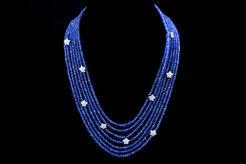 Multi-strand Beaded Necklace with Stars