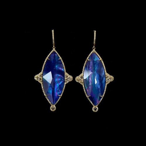 Marquise Shimmer Lapis Earrings