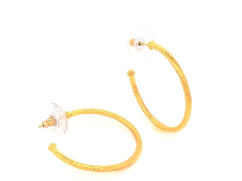 32mm Thin Gold Hoops