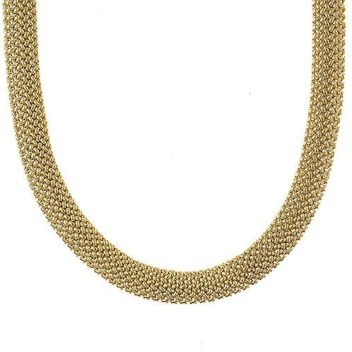 14K Flat Mesh Necklace