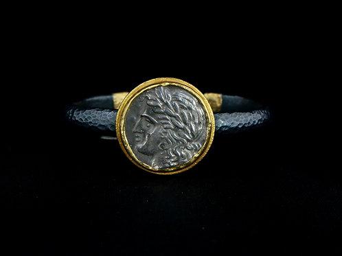 Oxidized Coin Cuff