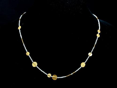 Mini White Pearl Necklace