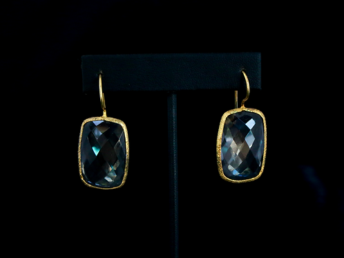 Rectangle Crystal Earrings