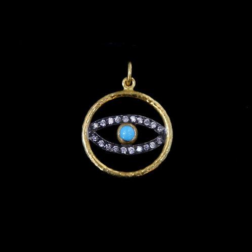 Turquoise Eye Pendant