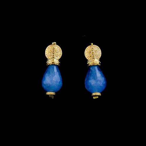 Blue Teardrop Earrings