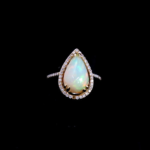 Pear Shape Oval Ring