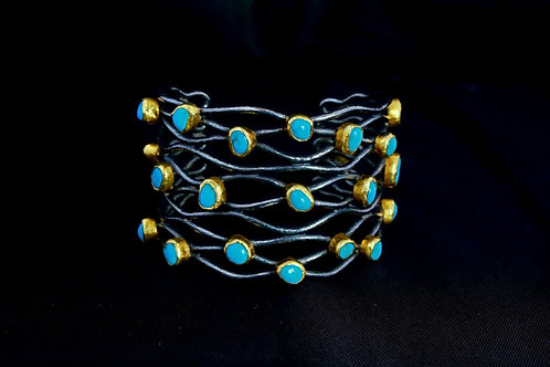 Turquoise Mesh Cuff