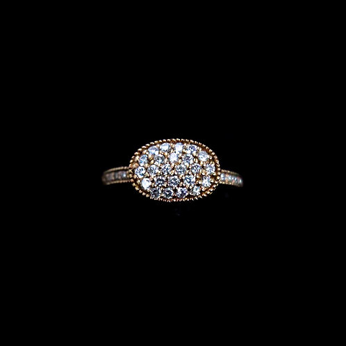 Cluster Pave Diamond Ring