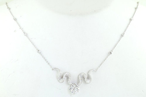 Large Diamond Drop Necklace