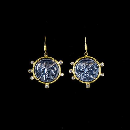 Coin Replica Drop Earrings