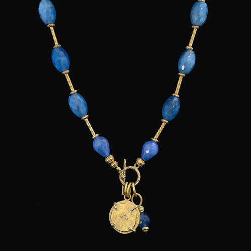 Teardrop Blue Quartz with Coin Drop