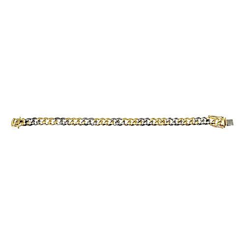 Yellow and White Curb Bracelet