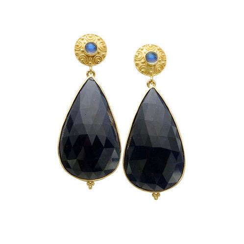 Blue Sapphire Pear Shape Earrings