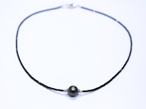 Tahitian Pearl Necklace (Black)