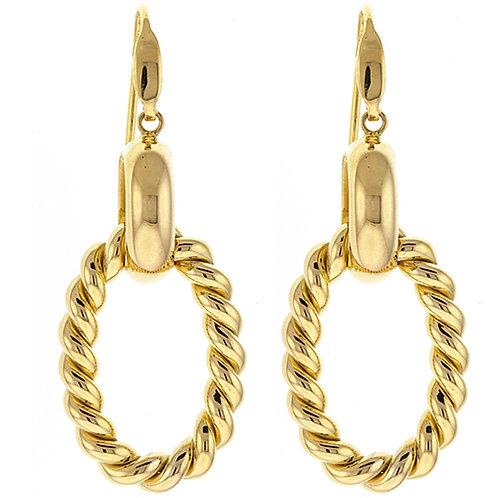 Twist Link Earrings