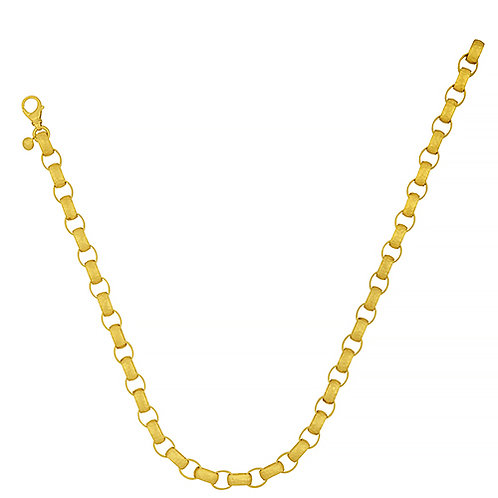 18K Hammered Link Chain Necklace