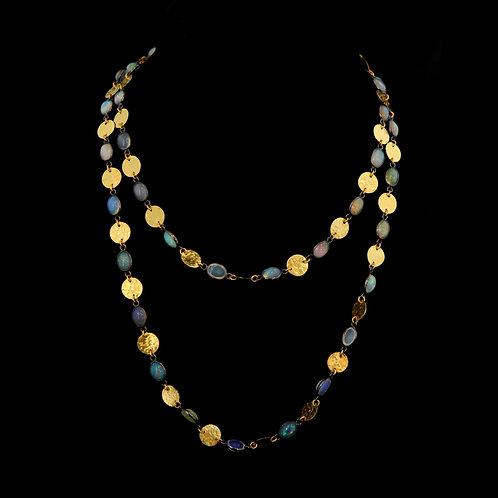 Ethiopian Opal Wrap Necklace