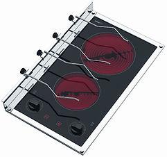 2 burner electric stove top