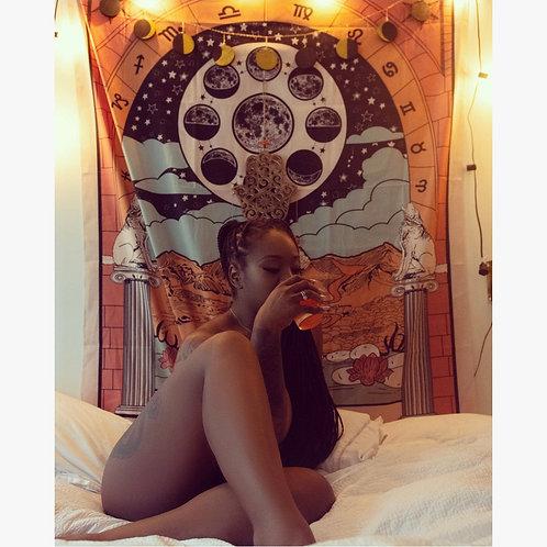 """Ms. Moon"" Tarot Card  Tapestry"