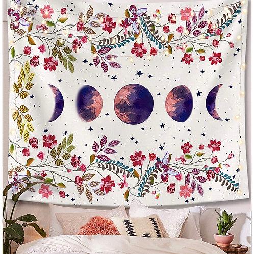 Moonlight Garden Tapestry (White)