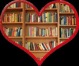 Books in a heart