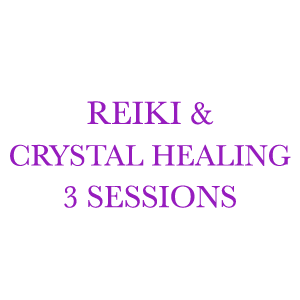 Reiki & Crystal Healing 3 Sessions
