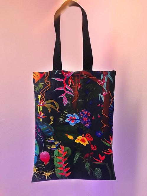 Night jungle tote bag