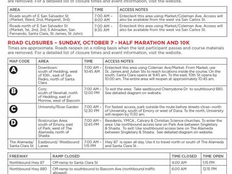 Road Closures for Rock n' Roll Half Marathon