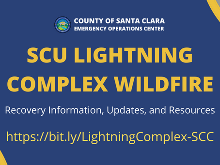 Recovery Resources for SCU Lightning Complex Wildfire