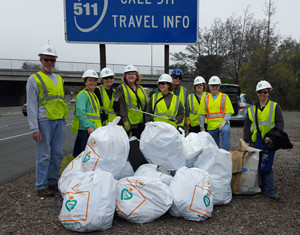Report on Adopt-A-Highway Clean-up Saturday, January 6, 2018
