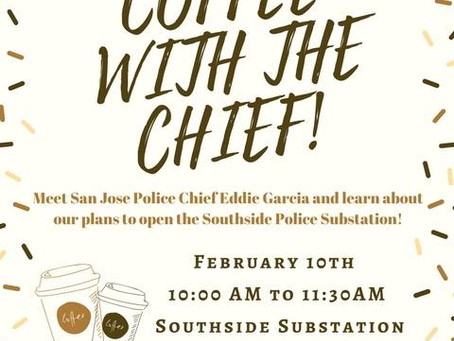 Coffee with San Jose Police Chief Eddie Garcia