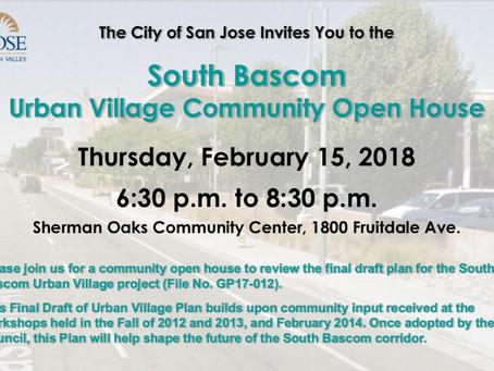 South Bascom Urban Village Community Open House