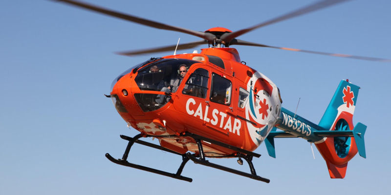 CalStar - CalStar frequently flies emergency medical operations throughout the Bay Area and come in and out of Valley Medical, Good Samaritan, and Stanford hospitals among others.  They may be picking up or dropping off critical patients.
