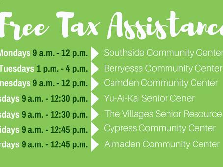 Free 2018 Tax Help at San José Community Centers