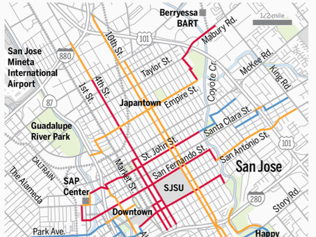 Confusion Over New Bike Lanes in Downtown San Jose