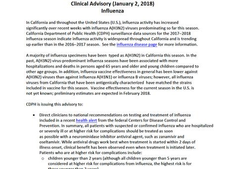 Flu Advisory