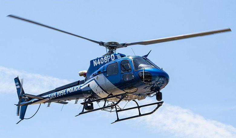 SJPD's Air3 - The Airbus H125 helicopter used by the San Jose Police Department will provides safety for officers and the community with its modern capabilities