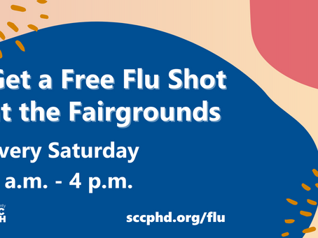 It's Not Too Late To Get A Flu Shot; Any Saturday at Santa Clara County Fairgrounds
