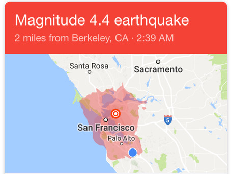 Strong Earthquake Wakes Up Bay Area