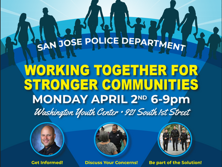 Community Event with San José Police Chief Eddie Garcia