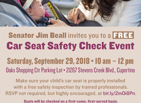FreeCar Seat Safety Check,Sept. 29
