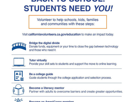 Back to school: students need you!