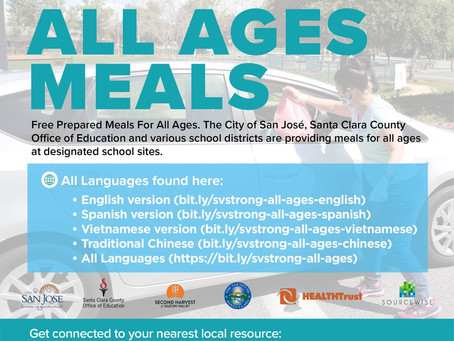 Meals For All Ages Are Now Available