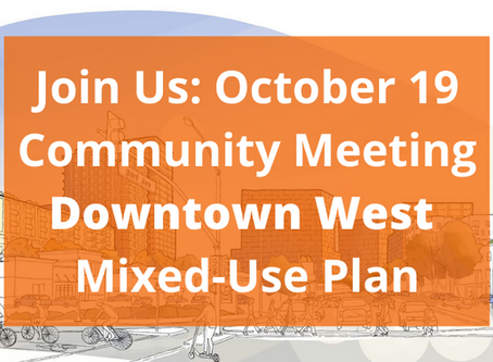 October 19 6:30-8:30 p.m: Meeting on Google's Downtown West Project