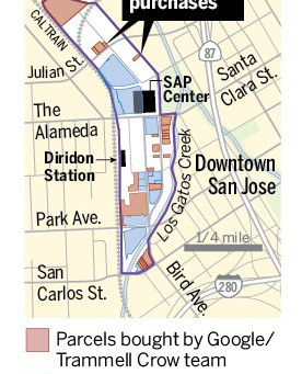 Google village: Scope appears to be widening with new property deals for massive downtown San Jose t