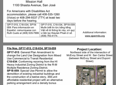 NOTICE: Community Planning Meeting, File Nos. GP17-015, C18-034, SP18-059
