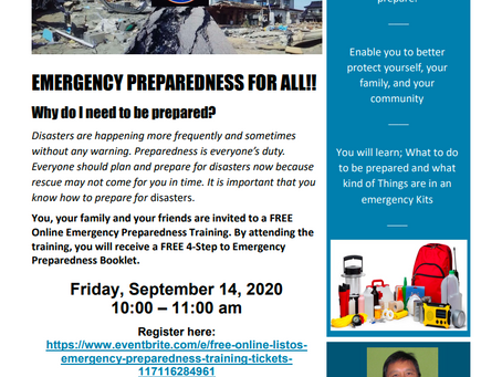 Emergency Preparedness Virtual Town Hall