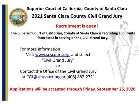 2021 Civil Grand Jury Recruitment is Underway